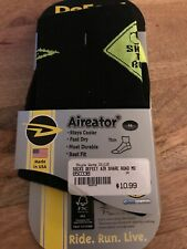 "DeFeet 3"" Aireator Quarter Athletic Socks, Share the Road, Medium, New"