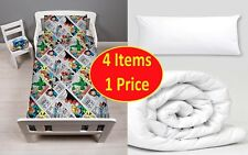 4 in 1 MARVEL COMICS RETRO JUNIOR BEDDING BUNDLE FOR COT TODDLER BED BOYS
