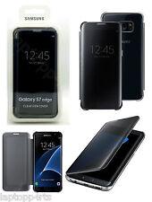 Genuine Ufficiale Samsung Galaxy S7 EDGE CLEAR VIEW COVER NERA ef-zg935cbeg
