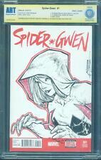 Spider Gwen 1 Deadpool CBCS SS Patrick Canter Original art Sketch up CGC 9.8