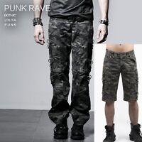 New PUNK RAVE Gothic Rock Mens Khaki Pants -Shorts K-190 ALL STOCK IN AUSTRALIA