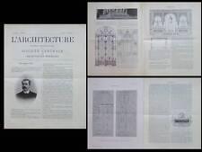 L'ARCHITECTURE N°18 1906 - NICOLAS ESCALIER, VILLA JACOT CHARNY, FERRONNERIE