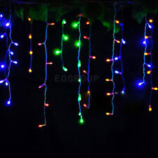 Icicle Hanging Snowing String Fairy Lights Curtain Christmas Tree Wedding Party