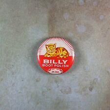"Vintage Style Tin Label Art Pinback Button 1""  Cat Kitten Billy Boot Polish"