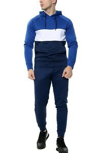 Men's Tracksuit Set Sports Top Bottoms 2 Pcs Sweatshirt Gym Joggers hoody