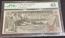 1896 $1 Silver Certificate Pmg 63 Educational