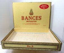 VTG 1950s BANCES IMPORTED 25 Fine Cigars No 3 Havana Cigars Cigar Box