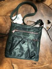 6d8c92beb NWT Aimee Kestenberg Travel Tyler Nylon Leather Multi Pocket Crossbody Olive