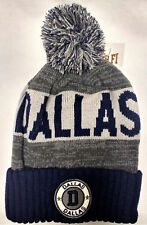 DALLAS COWBOYS FOOTBALL COLORS Knit Cuffed Pom Beanie Winter Hat Cap ADULT NWT