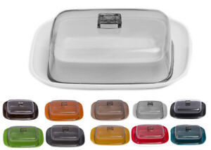 Butter Dish With Lid Storage Cheese Box Plastic Colours Kitchen Breakfast Tray