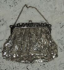 Vintage Antique 1920's Whiting & Davis Chainmail Silver Mesh Purse Bag