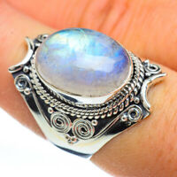 Rainbow Moonstone 925 Sterling Silver Ring Size 8 Ana Co Jewelry R44899F