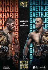 UFC 254 Poster - Khabib vs Gaethje (Champ vs Champ) - NEW - 11x17 13x19 - USA