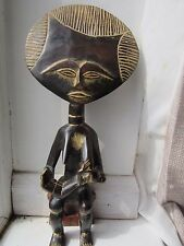 Large Antique Vintage African Ashanti Carved Hard Wood Fertility Statue Doll Ido