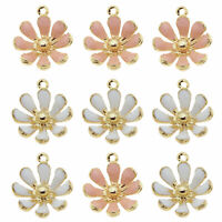 20pcs/lot Alloy Jewelry Pendants White/Pink Daisy Flowers Charms Accessories
