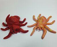 2 SPINNEN Sandtiere Stofftier Plüschtier Kuscheltier Spider Spinne Tarantel