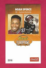 (5) NOAH SPENCE 2016 SENIOR BOWL EASTERN KENTUCKY COLONELS TAMPA BAY BUCCANEERS