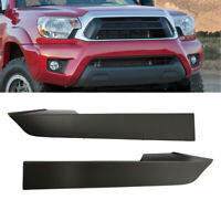 Front Bumper Grille Headlight Filler Trim Panels Set For Toyota Tacoma 2012-2014