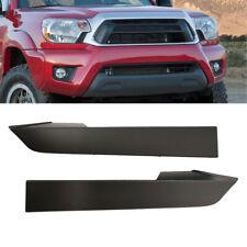Front Bumper Grille Headlight Filler Trim Panels Set For Toyota Tacoma 2012-2014