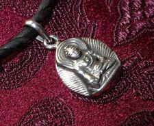Wunderschönes kleines 925er SILBER BUDDHA AMULETT aus TIBET
