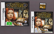 Chronicles of Mystery Curse of Ancient Temple (Nintendo DS with Booklet manual)