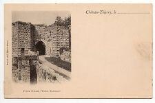 CHATEAU THIERRY aisne CPA 02 la porte st jean au vieux chateau carte nuage 1900