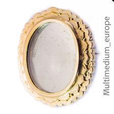 Biedermeier Silber vergoldete Photo Brosche Victorian brooch silver 🌺🌺🌺🌺🌺