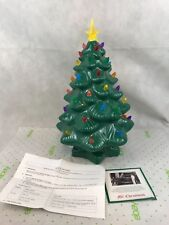 Mr Christmas Porcelain LED Christmas Tree Battery Operated Gift 15 Inches Tall