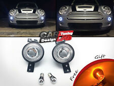 LED Clear Front Bumper indicator Halo Rims Light For Mini Cooper R50 R52 R53 S