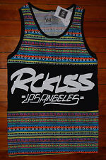 NEW Men's Young and Reckless Hacky Knit Los Angeles Graphic Tank Top (Medium)