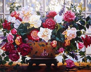 """Julie Inman Popular Artist Signed and Numbered Litho """"Fragrant Bouquet"""""""