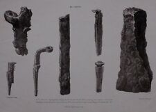1824 PRINT ITEMS DISCOVERED WHEN CLEARING THE REMAINS OF ROMAN BUILDINGS CASTOR