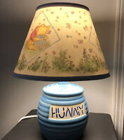 VTG WINNIE THE POOH Hunny Pot Nursery Lamp Light Disney Blue Tested Works