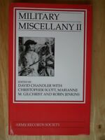 Military Miscellany II: Manuscripts from Marlborough's Wars.. (Army Records Soc)