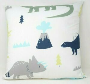 Sweet Jojo Blue And Green Mod Dinosaur Decorative Accent Throw Pillow