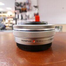 Used Olympus M Zuiko 14-42mm f3.5-5.6 EZ (Silver) lens - 1 YEAR GTEE