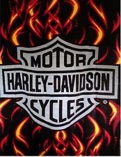 Harley Davidson Fire Blanket Beach Towel Bath Towel 54 x 68 Huge Towel