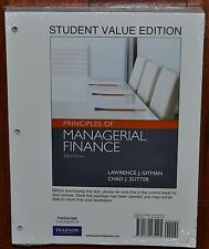 Pearson~Principles of Managerial Finance~13th Ed~Gitman~Zutter~Student Book~NEW