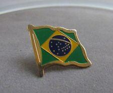 "Brazil Flag Pin, Green, Yellow and  Green, Metal, Badge, Souvenir 3/4"""