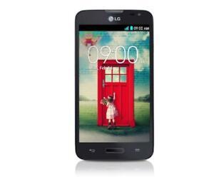"""Black LG L70 D320AR D320 1GB RAM 4GB ROM 8MP 4.5"""" Android Phone"""