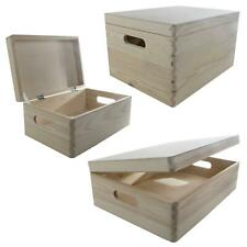 Under-bed Wooden Unfinished Containers | Choice of Sizes | Keepsake Chests w/Lid