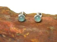 AQUAMARINE  Sterling  Silver  925  Gemstone STUD Earrings  -  5 mm