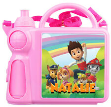 Personalised Kids Lunch Box + Bottle Any Name Paw Patrol Childrens Girl School 2