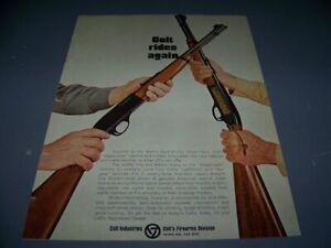 VINTAGE..1969 COLT .22 STAGECOACH/COLTEER.1 PAGE ORIGINAL SALES AD..RARE! (589W)