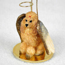 Poodle Dog Figurine Angel Statue Apricot