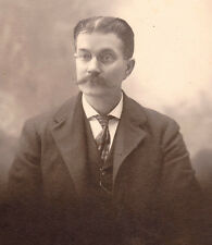 Antique Victorian Cabinet Photo Business Man J.L.Chase, NH 1910 ? Sepia VGCOND