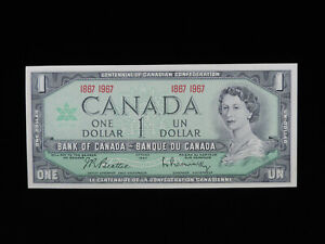 1867 - 1967 $1 Dollar Bank of Canada Banknote Centennial Confederation UNC Grade