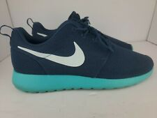 Nike Roshe Run Running Shoes Squadron Blue 511881-443 2012 Mesh Low Mens Size 10