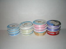 New ListingOrgandy Ribbon Lot Of 14 Spools Pink, White, Blue Other Colors