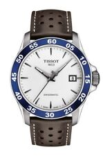 New Tissot V8 SwissMatic Automatic Leather Strap Mens Watch T1064071603100